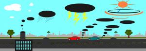 Contaminación ambiental 300x105 - Cinco formas en que la tecnología ha contribuido al calentamiento global